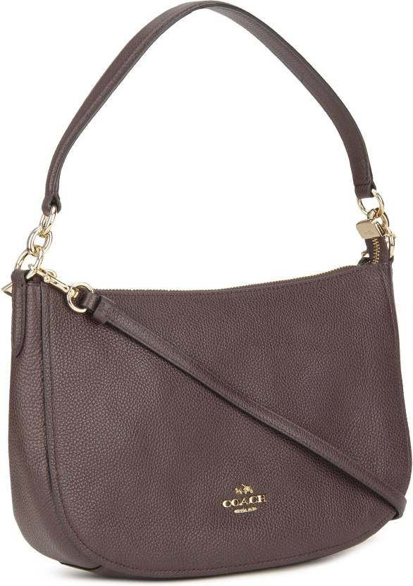 e040955d11 Coach Women Casual Maroon Genuine Leather Sling Bag LIOXB - Price in India
