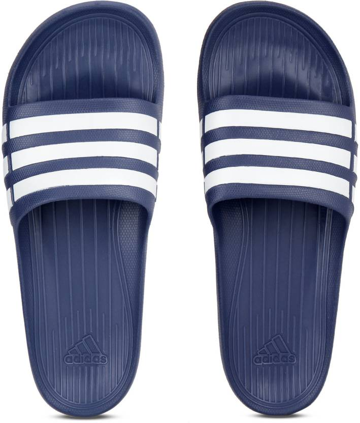 4618abb4d444 ADIDAS DURAMO SLIDE Slides - Buy TRUBLU WHT TRUBLU Color ADIDAS DURAMO  SLIDE Slides Online at Best Price - Shop Online for Footwears in India