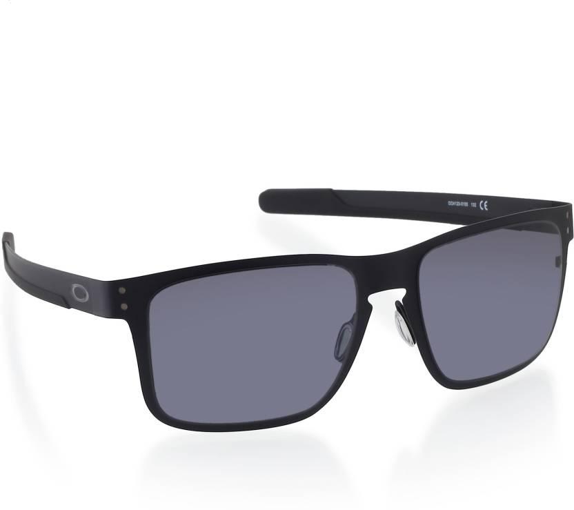 b329fd2455 Buy Oakley HOLBROOK METAL Rectangular Sunglass Grey For Men Online ...