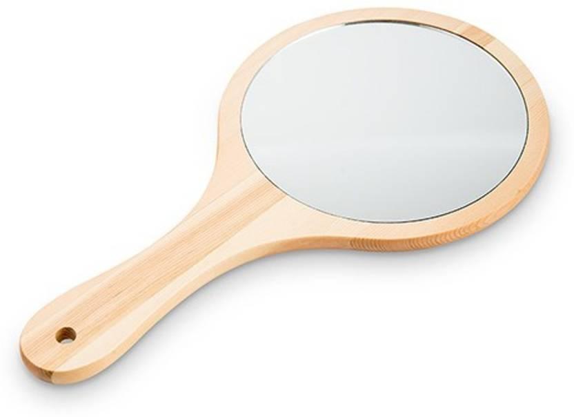 Beauty Studio Wooden Hand Mirror