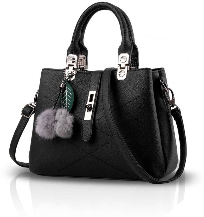 88969ed2b71a Buy JustAwesome Hand-held Bag Black Online   Best Price in India ...