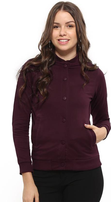 Bewakoof Full Sleeve Solid Women Jacket