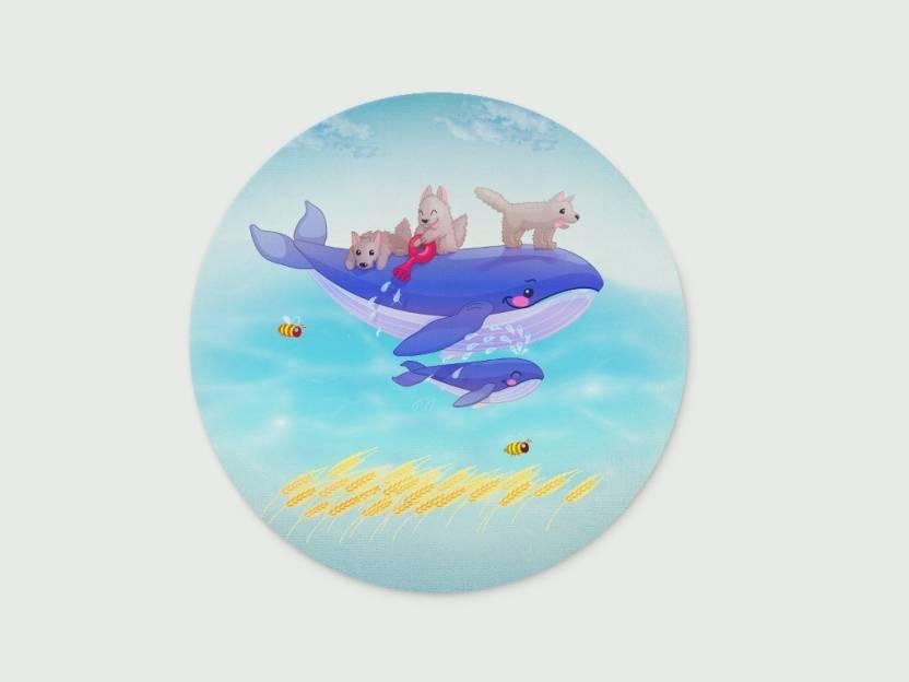 Digiclan Wolf Cartoon Mousepad Multicolor