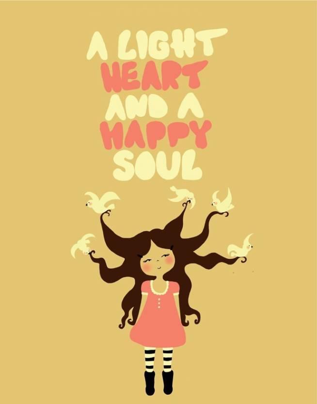 Tpc Poster A Light Heart Room Inspirational Motivational