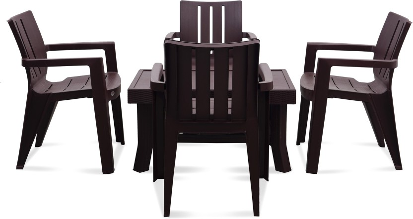 Supreme Plastic 4 Seater Dining Set