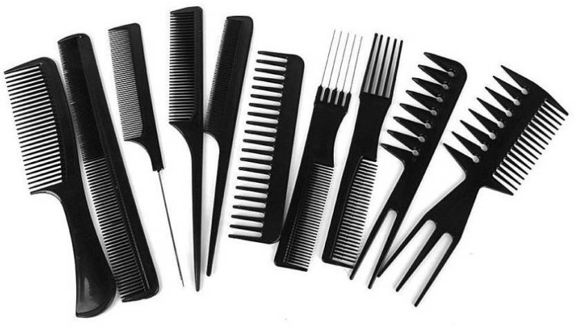 b17322a0fd395 Liqon 10pcs Professional Different Hair Comb Set Good For Barber Salon Hair  Styling Hairdressing