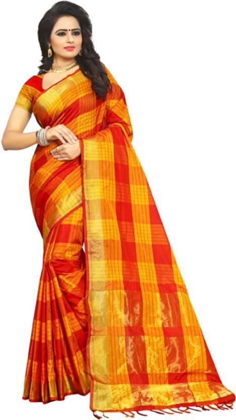 4b5110318 Buy V J Fashion Self Design Fashion Art Silk Red Sarees Online ...