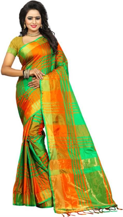 2ad4f60c0 Buy V J Fashion Self Design Fashion Art Silk Dark Green Sarees ...