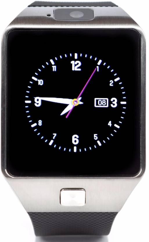 e01619ac6 Bingo T30 Sim   Bluetooth Fitness Tracker Silver Smartwatch (Black Strap  Regular)