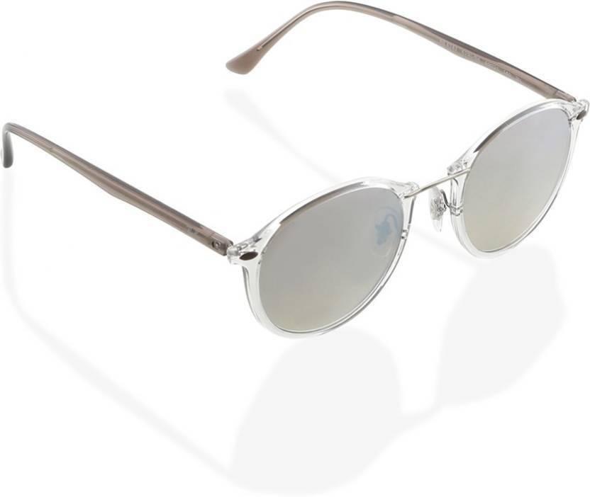13e3c5e9664e2 Buy Ray-Ban Round Sunglasses Silver For Men   Women Online   Best ...