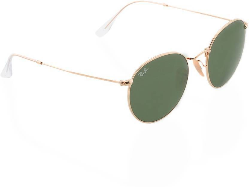 07a91ee122 Buy Ray-Ban Round Sunglasses Green For Men Online   Best Prices in ...