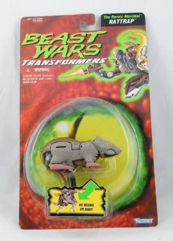Kenner Beast Wars Transformers Rattrap Action Figure Toy Becomes Spy