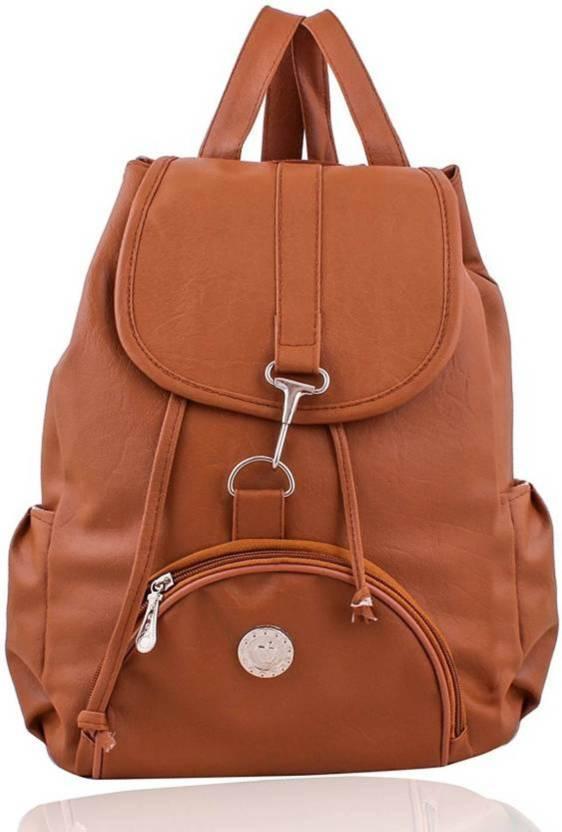 af615ae45b51c1 MK PURSE BACKPACK 10 L Backpack TAN - Price in India | Flipkart.com