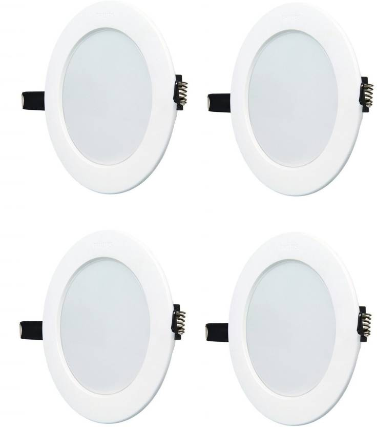 buy online 3ee54 0e103 Philips 10w round white 6500k led ceiling panel pack of-04 ...