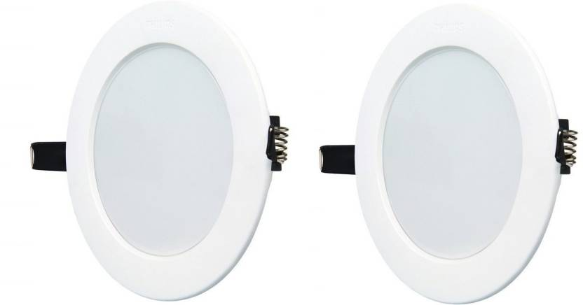 Philips 10w Round White 6500k Led Ceiling Panel Pack Of 02