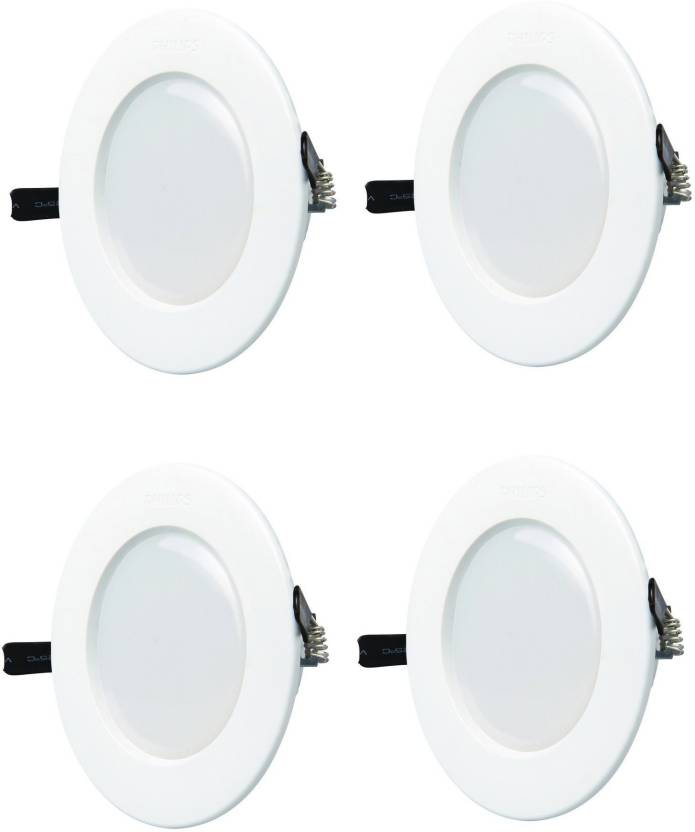 Philips 5w Round White 6500k Led Ceiling Panel Pack Of 04