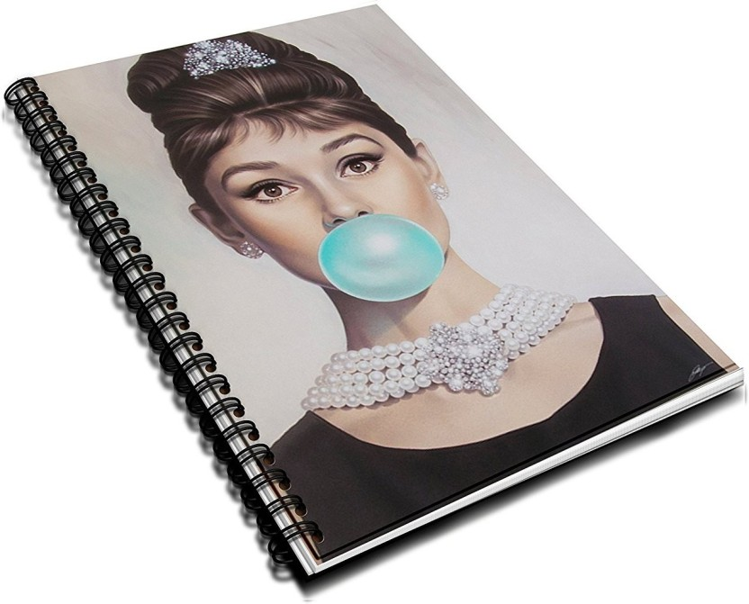 Audrey Hepburn Bubble Gum Artistic Quirky 2018 Diary Journal Planner  Notebook Wirebound   Wire Bound Spiral