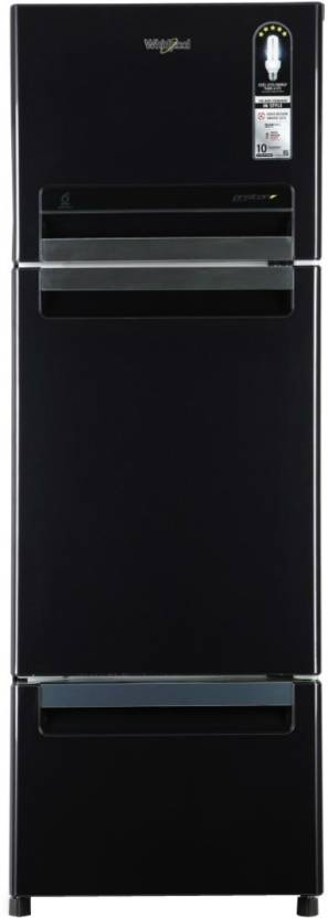 Whirlpool 240 L Frost Free Triple Door Refrigerator  (Caviar Black, FP 263D Protton Roy Caviar Black (N)) at Flipkart ₹24,490