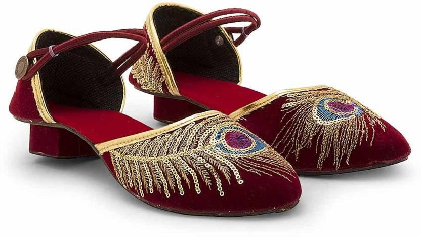 c7f0369c1 RAJASTHANI JUTI Women CHERRY Casual - Buy RAJASTHANI JUTI Women CHERRY  Casual Online at Best Price - Shop Online for Footwears in India