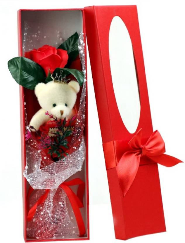Indoskyasia 968 Red Soft Toy Artificial Flower Gift Set Price In