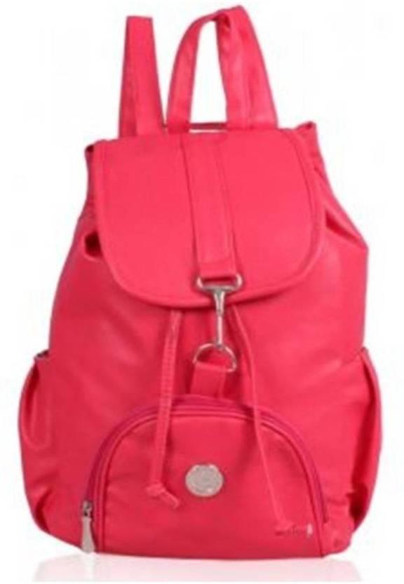 Onland Pink Non Leather Back Pack Bag 2 5 L Backpack