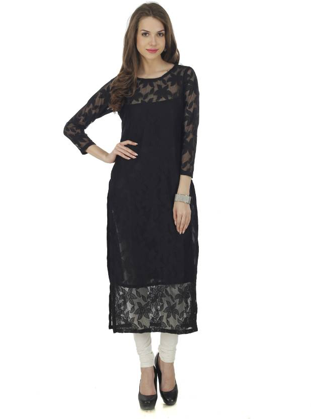 71fd7d469 The Bebo Women Chikan Embroidery Straight Kurta - Buy The Bebo Women ...