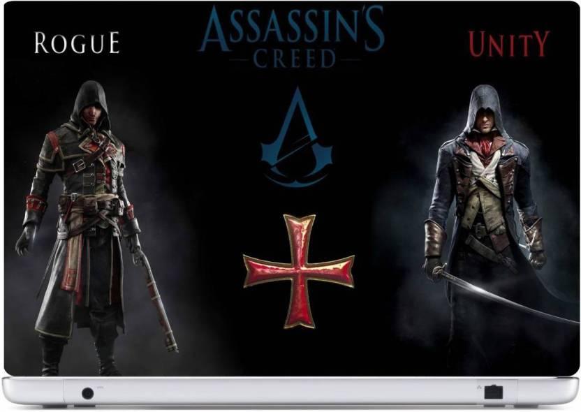 Rawpockets Assassin Creed Rogue Vs Unity PVC Vinyl Laptop