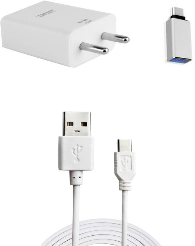 Trust Wall Charger Accessory Combo for Lenovo Zuk Z1 White, Silver
