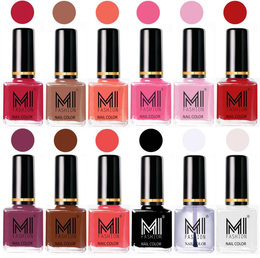 MI Fashion Non-Toxic Premium Lacquer 7 Days Long Lasting Nail Polish ...