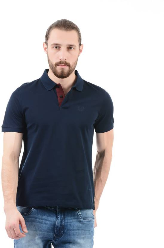 42b20cac Arrow Sport Solid Men Polo Neck Dark Blue T-Shirt - Buy Arrow Sport Solid Men  Polo Neck Dark Blue T-Shirt Online at Best Prices in India | Flipkart.com