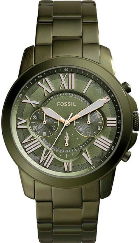 89b6282fac6 Fossil FS5375 Grant Chronograph Olive Green Stainless Steel Watch Watch -  For Men - Buy Fossil FS5375 Grant Chronograph Olive Green Stainless Steel  Watch ...