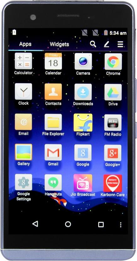 Karbonn mobile phone s360 black-blue dress