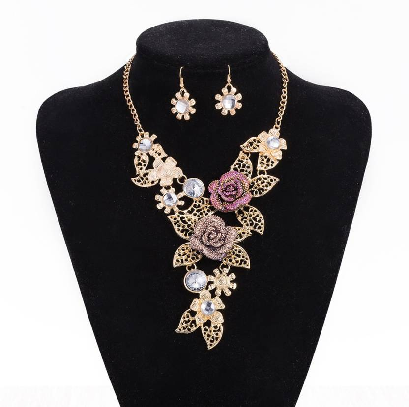 ece5c14900 Yellow Chimes Fashion Party Wear Rose Flower Choker Gold-plated Plated  Alloy Necklace Set Price in India - Buy Yellow Chimes Fashion Party Wear Rose  Flower ...