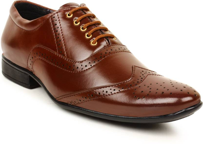 Buwch Men S Formal Brown Shoe Party Wear Shoes For Leather Mens Office