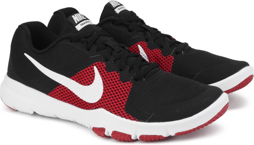 a3b17cf8dd47e Nike FLEX CONTROL Training Shoes For Men - Buy BLACK WHITE-TOUGH RED ...
