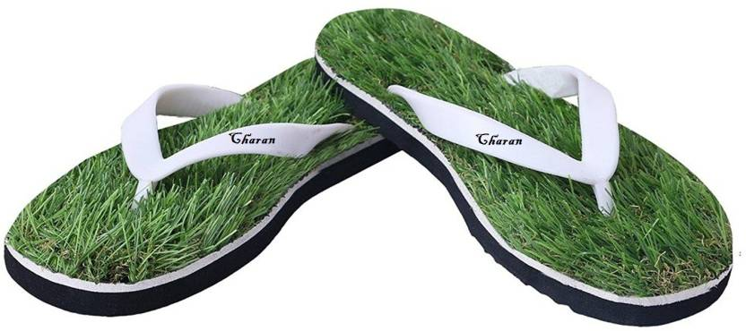 21b2f51ee571 Charan Mens and Womens Green Grass SOFT   STYLISH   Morning Walk   Ortho  Slippers