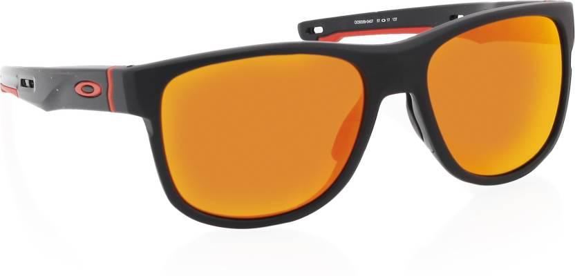 80f39236174 Buy Oakley CROSSRANGE R Wayfarer Sunglass Red For Men Online   Best ...