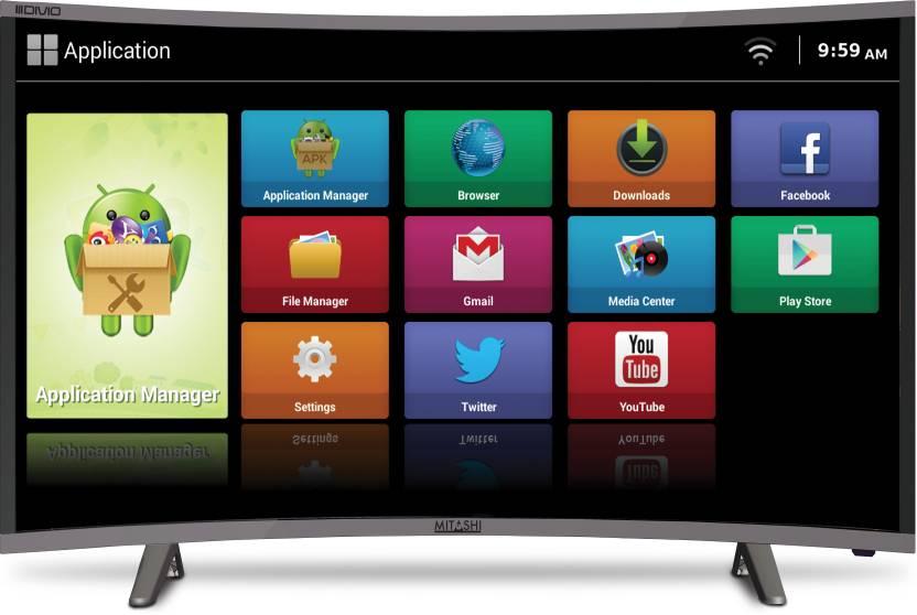 Mitashi 97.79cm (38.5 inch) HD Ready Curved LED Smart TV