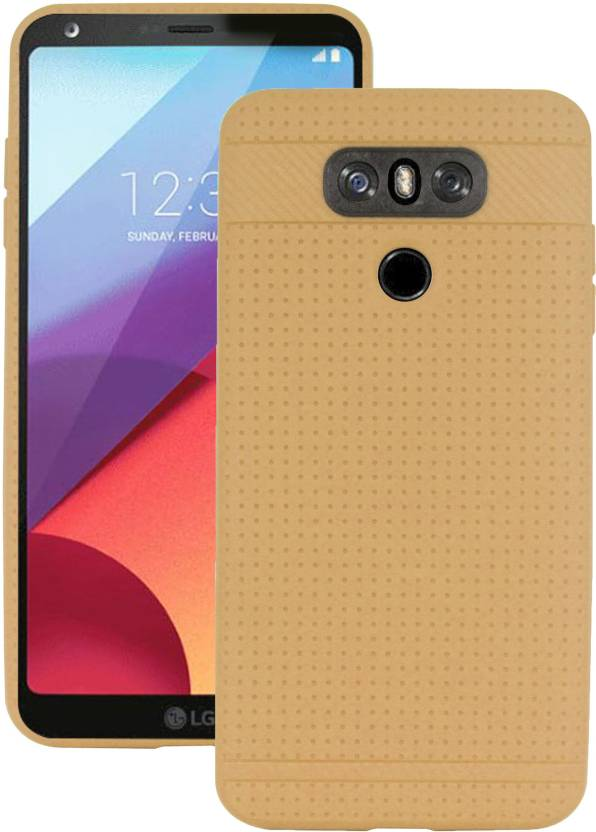 Heartly Back Cover for LG G6 Gold, Grip Case, Silicon Heartly Plain Cases   Covers