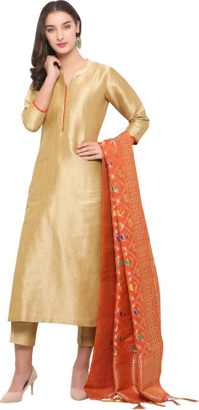 5fe32289ec Bhelpuri Silk Self Design Semi-stitched Salwar Suit Dupatta Material Price  in India - Buy Bhelpuri Silk Self Design Semi-stitched Salwar Suit Dupatta  ...