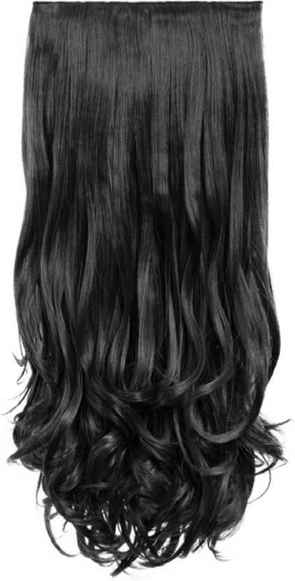 D Divine Black Clip In Wavy Hair Extension Price In India Buy D