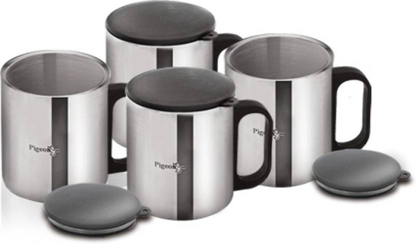 Pigeon Double Coffee Cup Set Of 2 Stainless Steel Mug