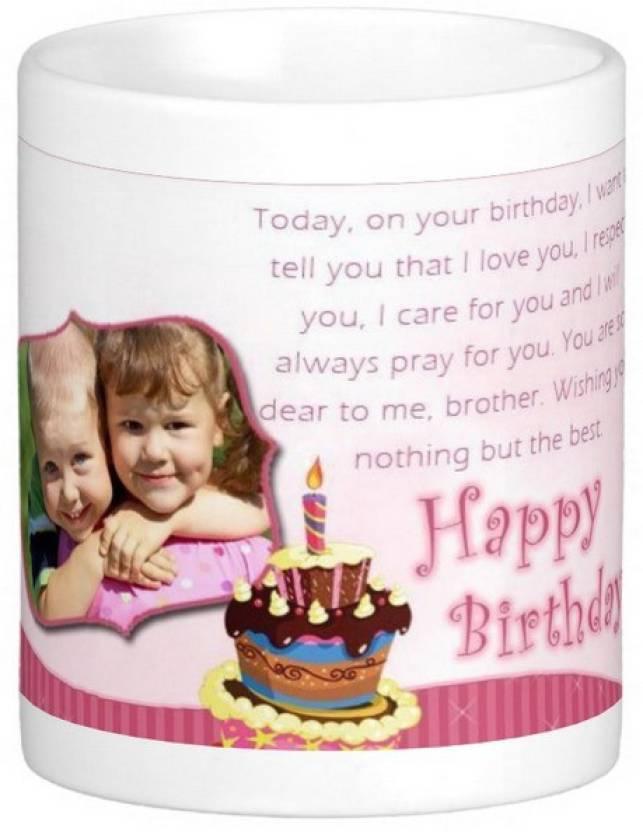 Exoctic Silver Brother S Bhai Happy Birthday 007 Ceramic Mug Price