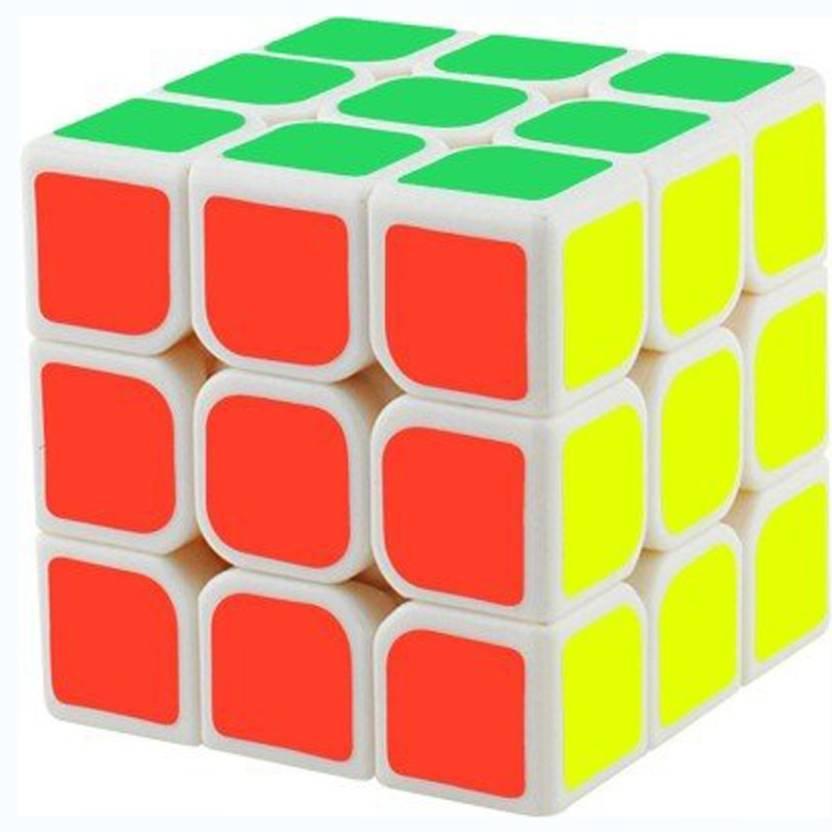 PRESENTSALE Magic Cube 3x3x3 White Stickerless Rubik's Cube (1 Pieces)