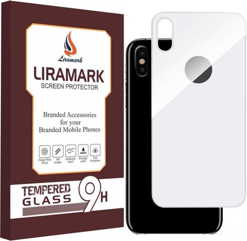 best website 4e87f 32e65 LIRAMARK Back Screen Guard for Apple iPhone X ( Back Tempered Glass ) (  White Color )