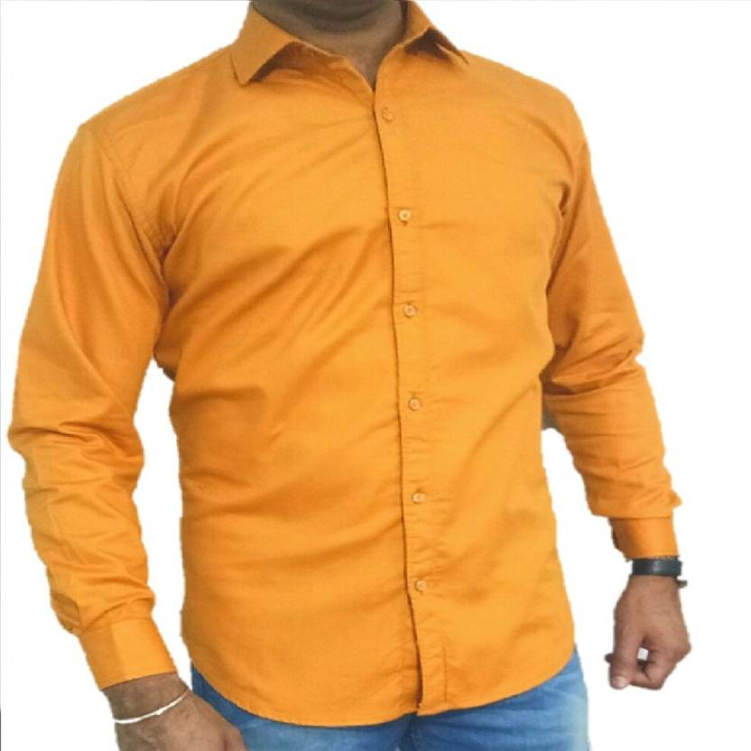 472aae5b0 attitude fashions Men s Solid Party Yellow Shirt - Buy attitude ...