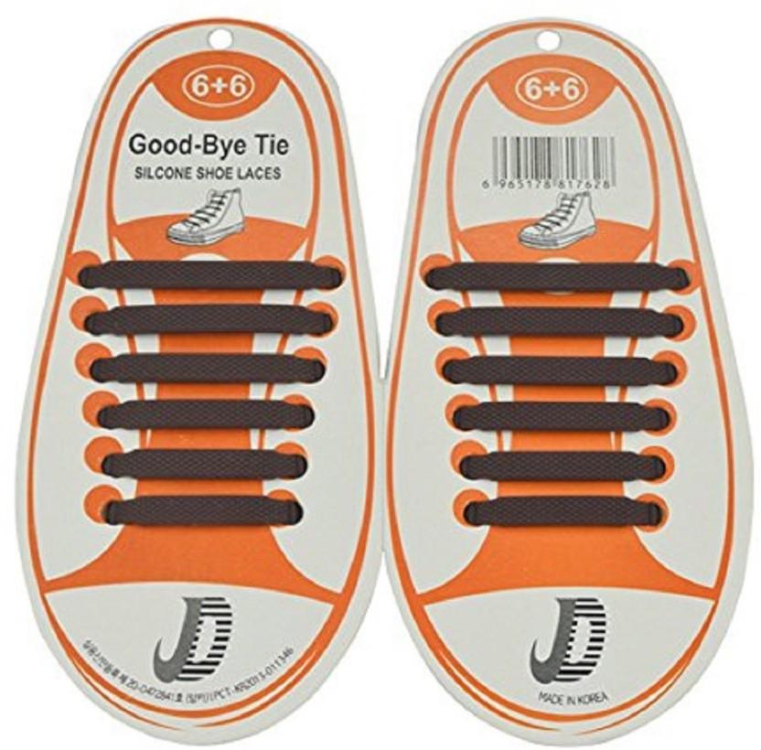 No Tie Athletic Elastic SILICONE SHOES LOCK Sneaker Shoelaces dress shoe lace