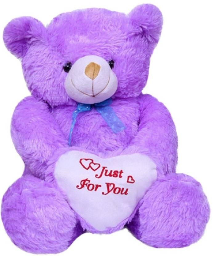 Gvmc Toys Cute Purple Fur Heart Teddy Bear 80 Cm Toys Cute