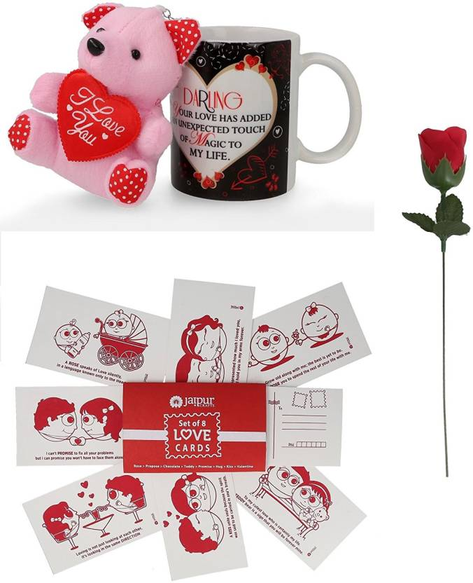 Jaipurcrafts Unique Love Quotes Coffee Mug One Teddy Beer One