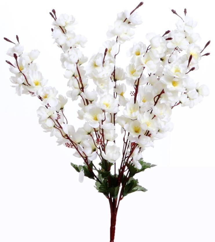 Kaykon Beautiful Peach Blossom Artificial White Orchid Flower Bunch